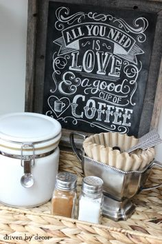 Organizing the Kitchen: Our New Coffee Station
