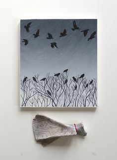 The Bare Bones Of Winter - Hester Cox Mixed Media Artists, Limited Edition Prints, Art Prints, Block Prints, Printmaking, Birds, Ink, Homework Ideas, Gallery