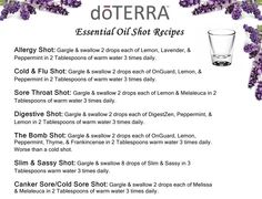 Great essential oil recipes that can be easily taken internally/by mouth!    www.MyDoterra.com/SarahKopp