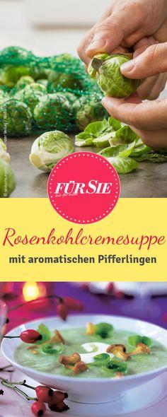 Rezept für Rosenkohl-Cremesuppe