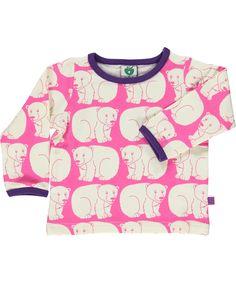 Småfolk schattig roze baby t-shirt met ijsberen. smafolk.nl.emilea.be