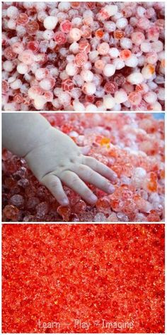 Frozen water beads - a summer fun sensory activity to stay cool