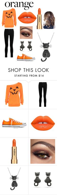 """Orange"" by pianopixi ❤ liked on Polyvore featuring beauty, J Brand, Converse, Lime Crime, Sisley and Amanda Rose Collection"