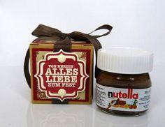 Geschenkverpackungen - Weihnachtsgeschenk Mini Nutella - ein Designerstück von Stempelitis bei DaWanda