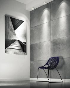 Architectural concrete and Panels designed with the intention of creative play with form and light. You can make your interior one of a kind, individually aranging a chosen model. Decorative Wall Panels, 3d Wall Panels, Design System, Loft Design, Dove Grey, Concrete, Wall Decor, Interior Design, Wood