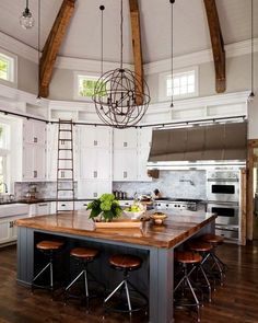 What do you think of this kitchen design? Would you eat here?  Follow @archillions   . . . Via: @decorsity | All credit to rightful and respectful owner (DM for credit)