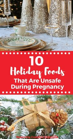 Holiday Foods That Are Unsafe During Pregnancy : The holidays are always filled with so much delicious food! Some of those foods are unsafe to eat during pregnancy. Find out which ones are unsafe and which ones you can indulge on safely. Holiday Foods, Holiday Recipes, First Pregnancy, Pregnancy Foods, Recipe Organization, Healing Herbs, Holiday Cocktails, Types Of Food, Cakes And More