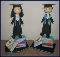 Ideas de inspiración para regalos ocasionales. ¡y personalizados! Fofuchas de graduados