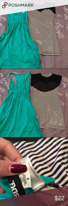 Small Dress Bundle Brand: Urban Outfitters BDG & American Apparel Size: small Color: green white and black  Retail: $80 Condition: good  green boho dress with pockets and mesh tight striped AA dress  Before shipment, ALL items in my closet will be washed, ironed, and lint rolled if needed.   Check out my closet for more cute items!  I ALWAYS discount bundles! American Apparel Dresses Mini
