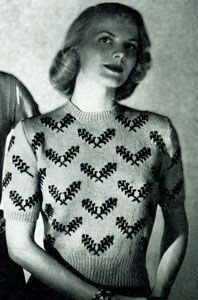 NEW! Scandinavian Sweater knit pattern from Jack Frost, Volume No. 53, originally published in 1951.