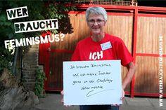 """""""Ich brauche #Feminismus, weil ich meine Tochter gerne in der Chefetage sehen möchte"""" (Gudrun)"""