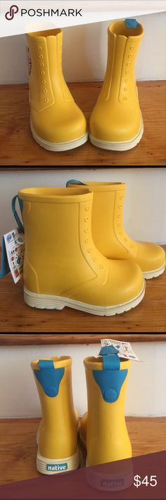 ☔️ NWT Native Rain Boots ☔️ Must have boots for jumping in muddy puddles ☔️ Native Shoes Rain & Snow Boots