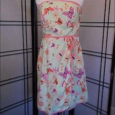 Lilly Pulitzer Butterfly Strapless Dress