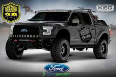Ford spikes adrenaline with special edition SEMA trucks. Ford Deegan 38 custom truck for SEMA Lifted Trucks, Ford Trucks, Pickup Trucks, Pick Up, Ford Specials, Carros Audi, Muscle Truck, Desert Design, Performance Tyres