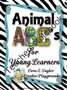 Animal ABCs for Young Learners from Cara Taylor on TeachersNotebook.com (23 pages)  - If you're the type that loves glitter, animal prints, black, and neon, then these binder covers are definitely for you! Included in this product are an abundance of covers, that feature the newest set of papers from Glitter Meets Glue, so you know th