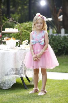 Fancy Flower Net Dresses for Girl of 5 Years Old,Baby Frock Dress for Party