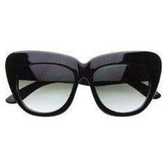 22b1116c4dc Black Friday zeroUV® - Oversized High Fashion Designer Inspired Bold Cat  Eye Sunglasses Cateyes (Black) from MJ Boutique Cyber Monday
