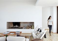 lIKE THE FIREPLACE HERE. Tunquen House by L2C sits high above the Chilean coastline