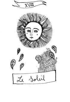 Le Soleil _ illustrazione per tarocchi 2011  http://veralazzarini.wix.com/verala