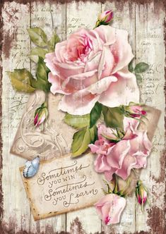 Discover thousands of images about Rice Paper for Decoupage Decopatch Scrapbook Craft Sheet Sweet Time Rose Decoupage Vintage, Vintage Diy, Vintage Ephemera, Vintage Cards, Vintage Paper Crafts, French Images, Images Vintage, Vintage Pictures, Rice Paper Decoupage