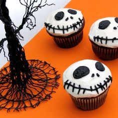 Jack Skellington Cupcakes | 13 Creepy Halloween Treats and Snacks | Food | Disney Family.com