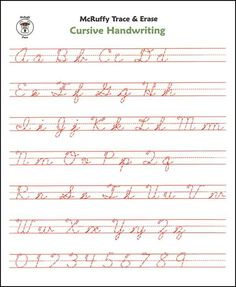 Excellent Alphabet Handwriting Practice Worksheet! Looked ...