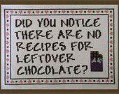 Leftover Chocolate Counted Cross Stitch Chart.