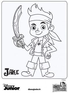 Coloriage Jake et les Pirates du Pays Imaginaire - Disney Junior