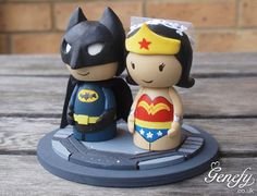 Hey, I found this really awesome Etsy listing at http://www.etsy.com/listing/157385499/cute-superhero-wedding-cake-topper.. The fiance would love that