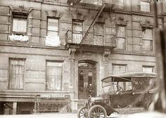 Old Model T in front of 218 E. 67th St., New York City