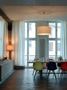The Lofts at Soho House Berlin; eclectic and chic dining room