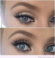 Pretty nude and black eye make-up inspiration