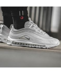 d704db760ed0 Nike Air Max 97 Mens White Silver Trainers Silver Trainers