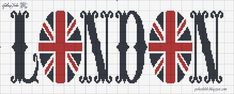 adore this london and union jack free cross stitch pattern Cross Stitch Freebies, Cross Stitch Charts, Cross Stitch Designs, Cross Stitch Patterns, Cross Stitching, Cross Stitch Embroidery, Embroidery Patterns, Pixel Art, Tapestry Crochet