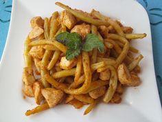 Pikantna potrawa z fasolką szparagową i kurczakiem #food #fasolkaszparagowa #kurczak #mniam