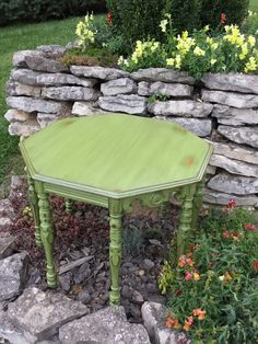 Octagon table in New Life Chalky Finish by Americana Decor.