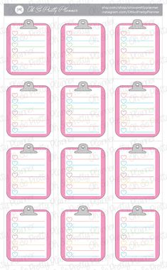Clipboard Checklist Stickers for your ECLP