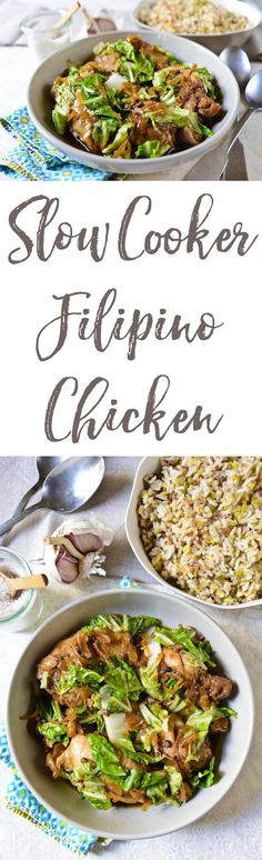 A recipe for slow cooker Filipino chicken that's super easy and hassle-free, and yields fall-off-the-bone tender, amazingly flavorsome chicken!