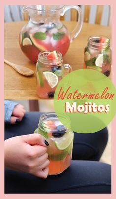 Blackberry Watermelon Mojitos!