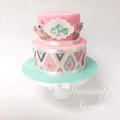 Aztec Baby shower cake