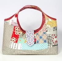 Tinker Tote by Tara Rebman-Learn How to Make a Quilted Purse in Quilt-As-You-Go Patchwork Bags