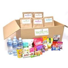 Adult box with 20 snack packs for lunch Packing, Tasty, Lunch, Snacks, Website, Box, Bag Packaging, Appetizers, Snare Drum