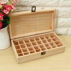 Essential Oils Wooden Box 32 Holes 5ml Or 10ml Bottles