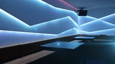 LINES WITH LED Stripes behind walls OF GYPSUM Nightclub Design, Shopping Malls, Gypsum, Night Club, Walls, Stripes, Ceiling Lights, Led, Party