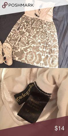White and grey strapless dress.by gadogado 95%rayon 5%spandex.  Awesome strapless dress. gadogado Dresses Mini