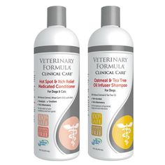 SynergyLabs Veterinary Formula Clinical Care Combo Pack for Dogs: (1) Oatmeal and Tea Tree Oil Infuser Shampoo and (1) Hot Spot and Itch Relief Medicated Conditioner - 2 Bottles Total (17 Ounces each) *** Visit the image link more details. (This is an affiliate link) #CatCare