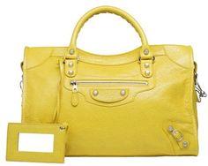 Balenciaga Giant 12 Silver City Curry Lambskin Shoulder Bag   @ashleesloves.com