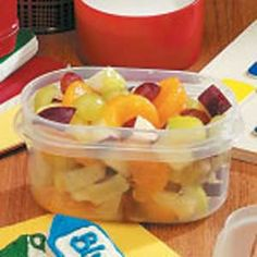 A  Is For Apple Salad -- quick to make, holds up well in fridge, great for school lunches. (Or your own!)