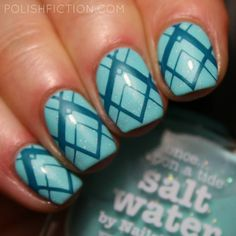 Picture Polish Salt Water and stamping from MoYou London Holy Shapes 04 with Colour Alike Cozy Blanket