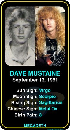 Musician Yearbook Photos: Dave Mustaine http://www.astrologynewsworld.com/index.php/galleries/celeb-gallery/item/dave-mustaine #astrology #davemustaine #yearbook